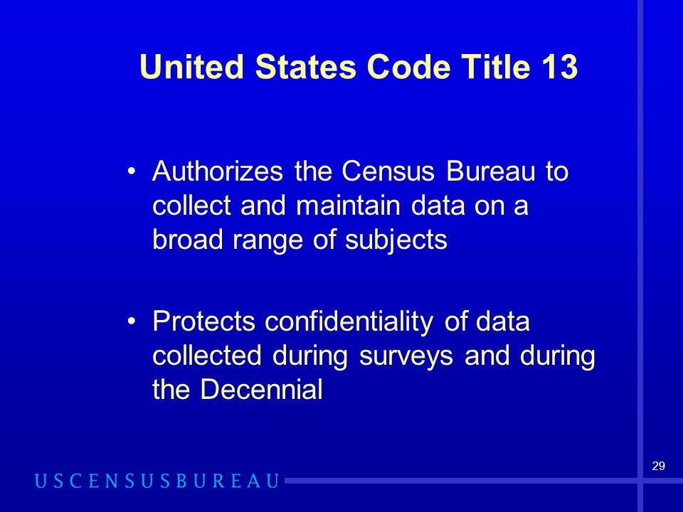 United States Code Title 13