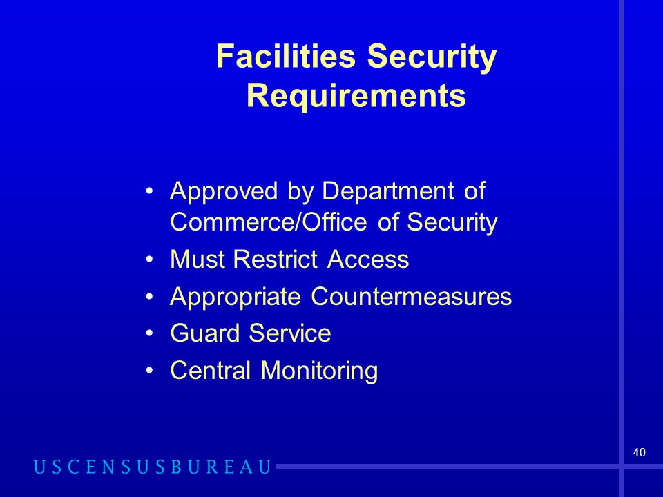 Facilities Security Requirements