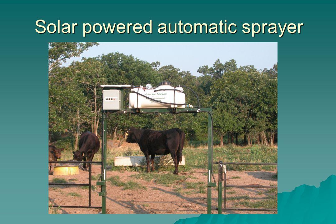 Solar powered automatic sprayer