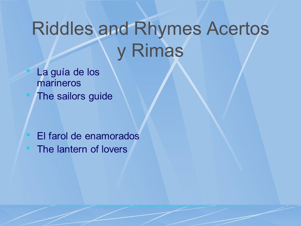 Riddles and Rhymes Acertos y Rimas