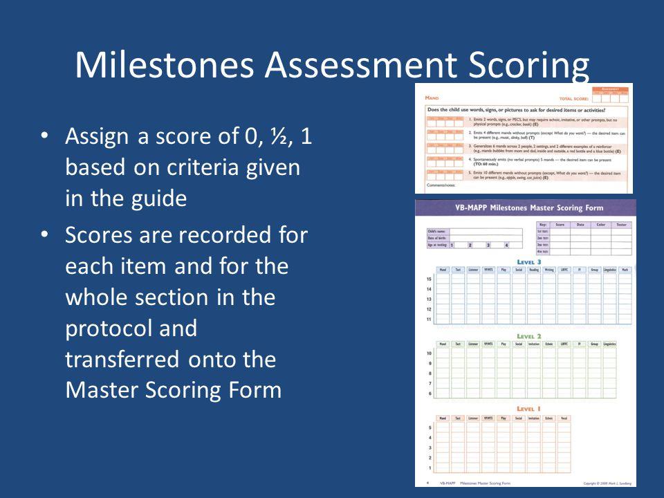 Milestones Assessment Scoring