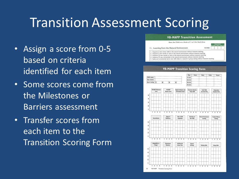 Transition Assessment Scoring