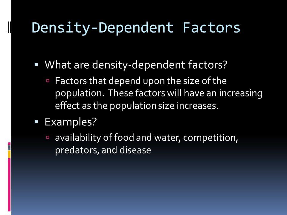 Density-Dependent Factors