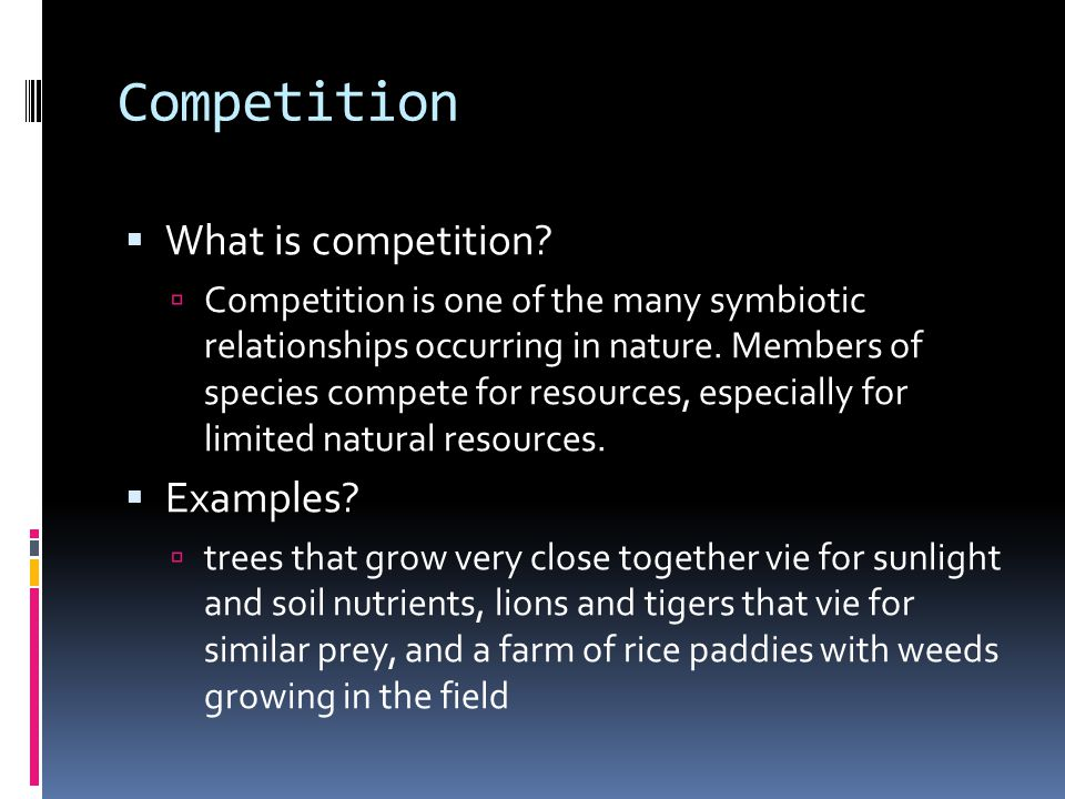 Competition What is competition Examples