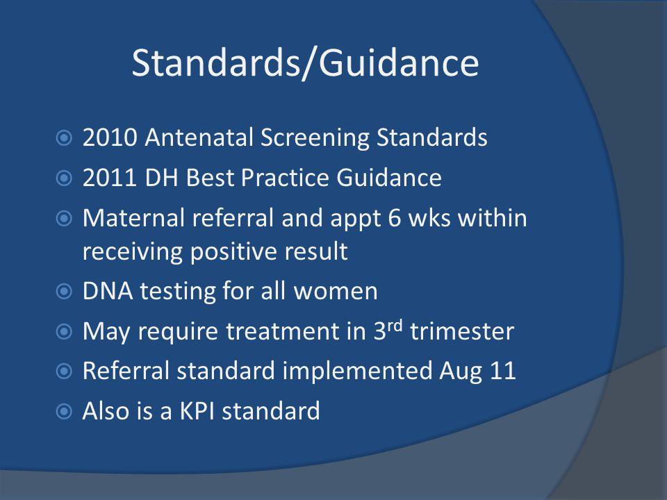 Standards/Guidance 2010 Antenatal Screening Standards