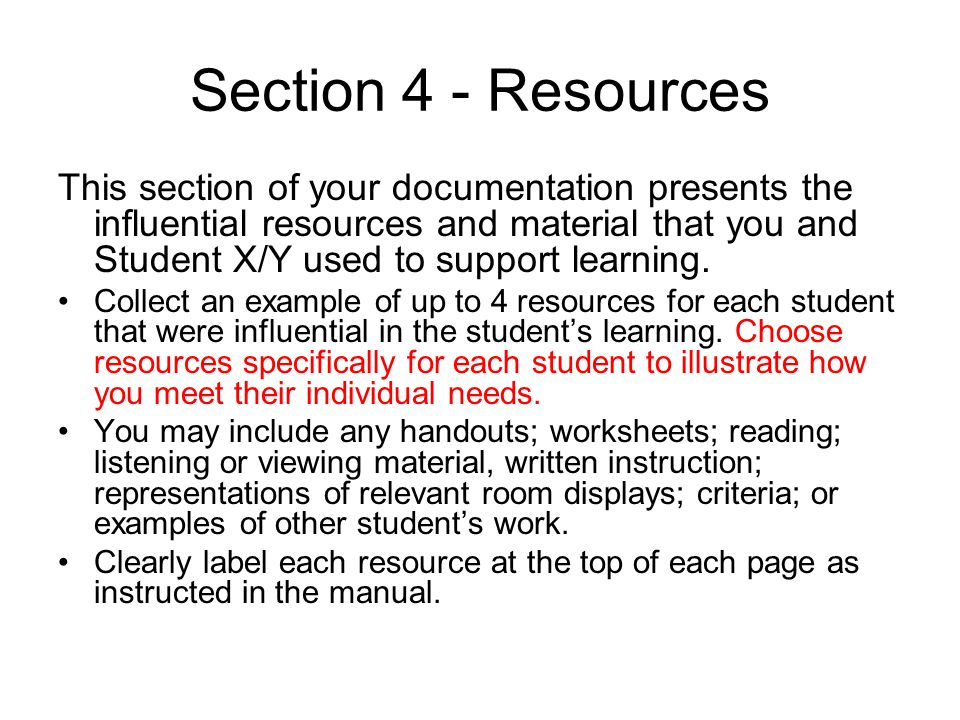Section 4 - Resources
