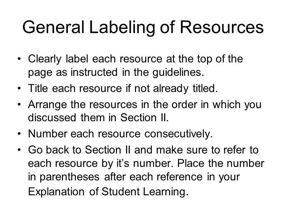 General Labeling of Resources
