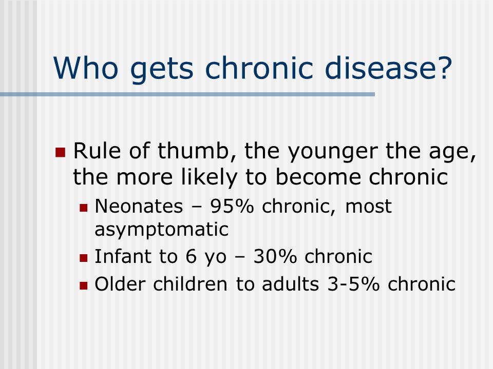 Who gets chronic disease