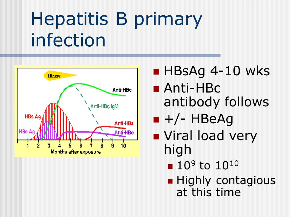 Hepatitis B primary infection