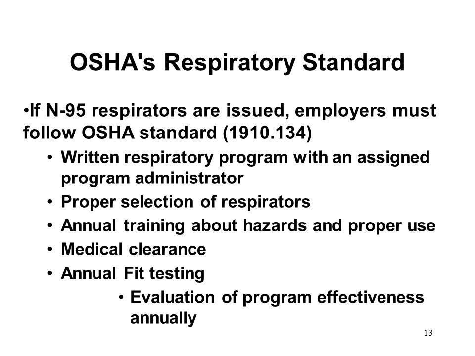 OSHA s Respiratory Standard