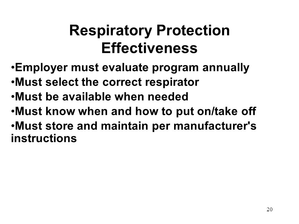 Respiratory Protection Effectiveness
