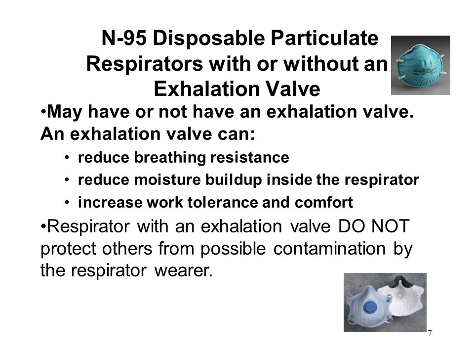 03/12/09 N-95 Disposable Particulate Respirators with or without an Exhalation Valve.