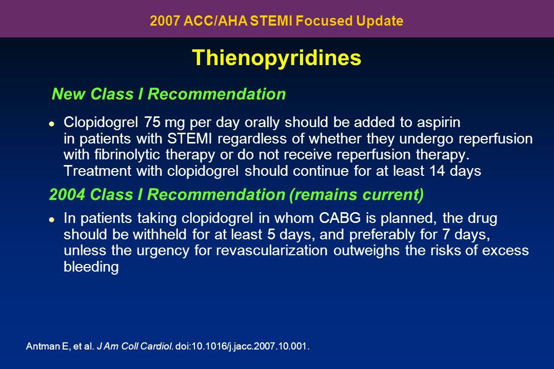 2007 ACC/AHA STEMI Focused Update