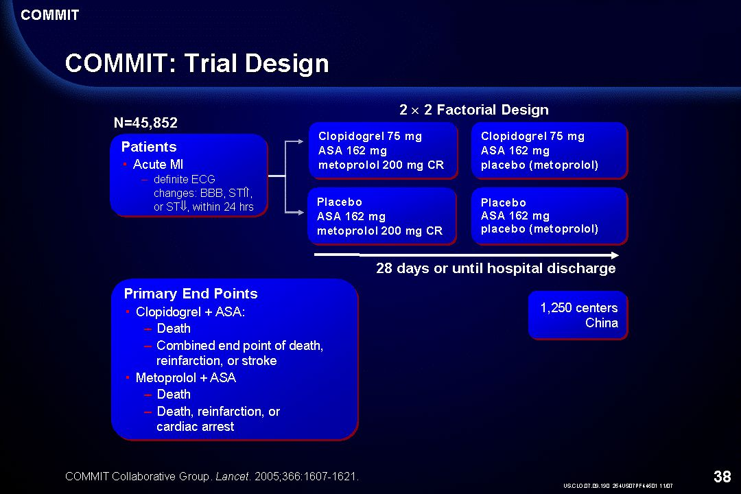 Notes: COMMIT: Trial Design