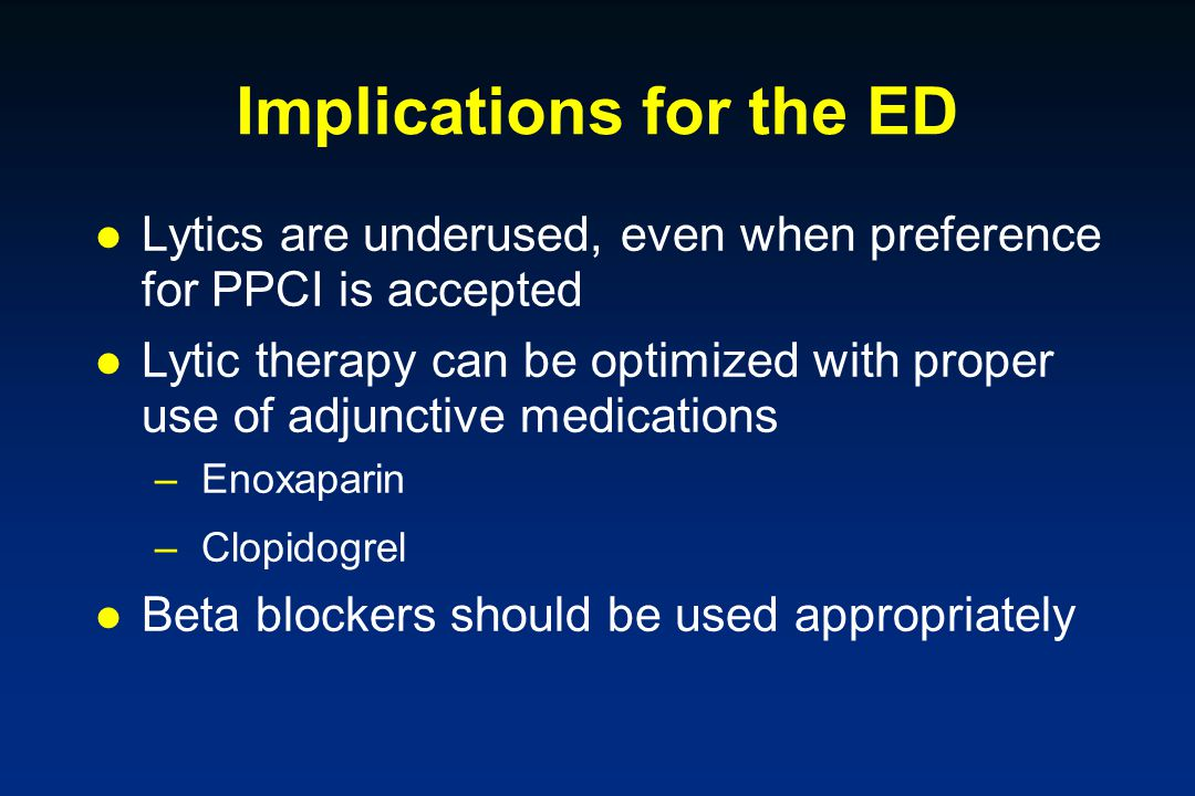 Implications for the ED