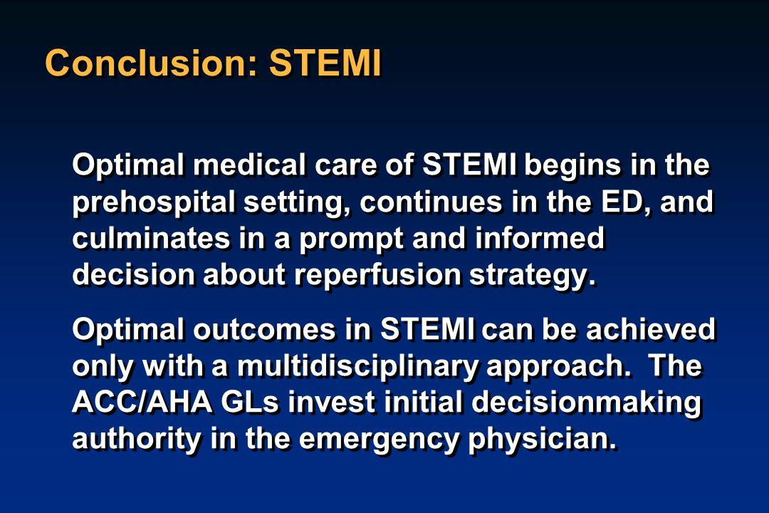 Conclusion: STEMI