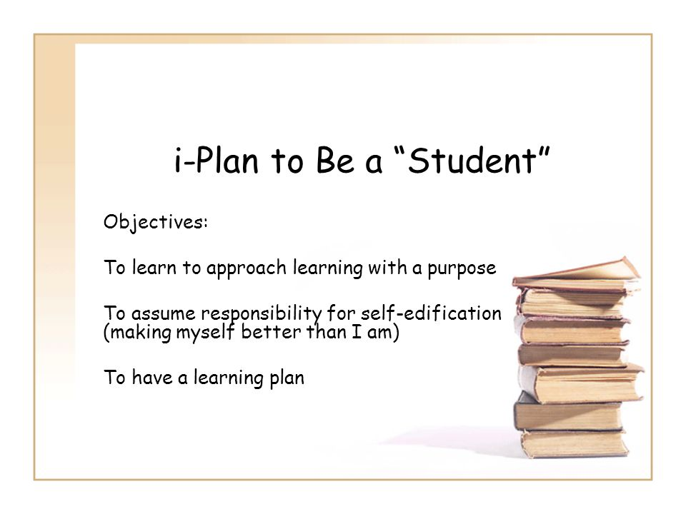 i-Plan to Be a Student