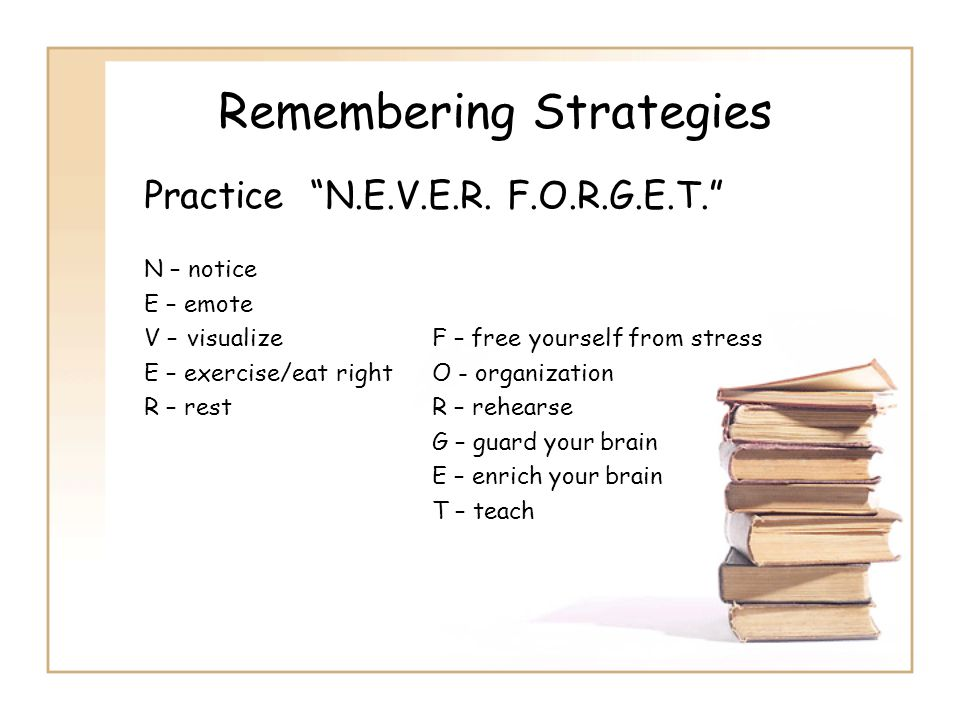 Remembering Strategies