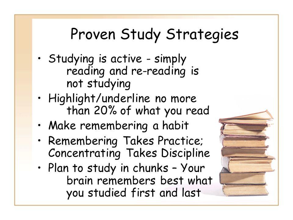 Proven Study Strategies