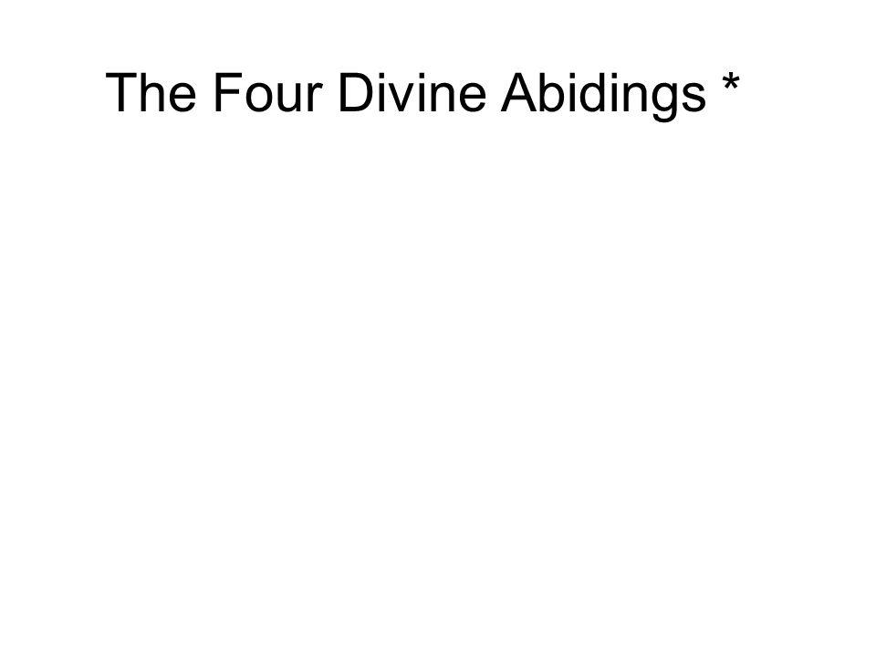 The Four Divine Abidings *