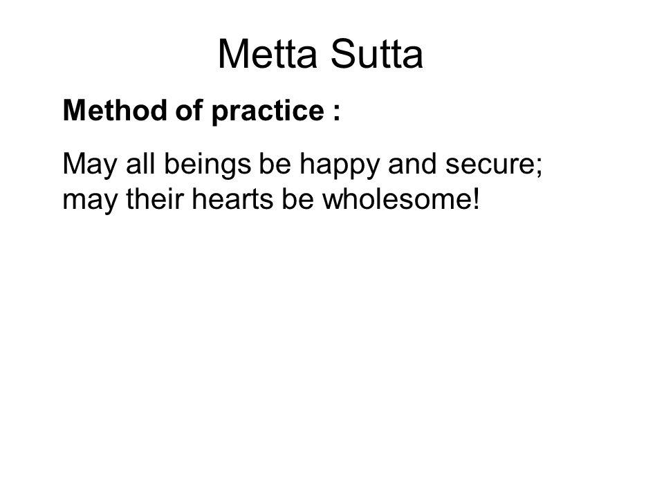 Metta Sutta Method of practice :