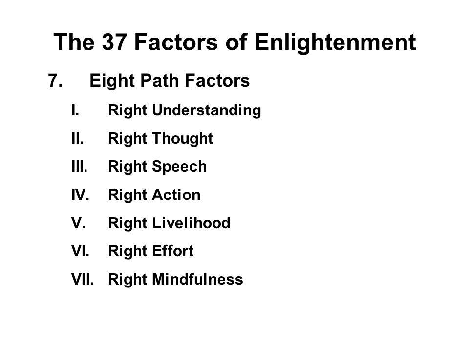 The 37 Factors of Enlightenment