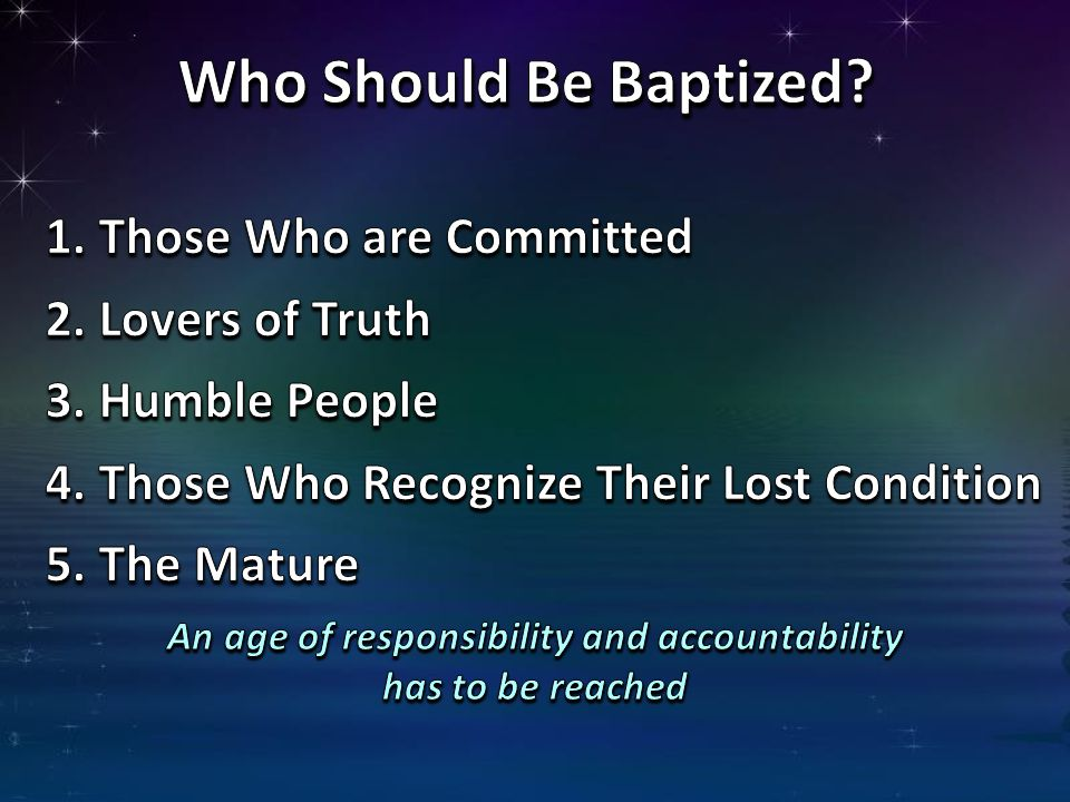 An age of responsibility and accountability has to be reached