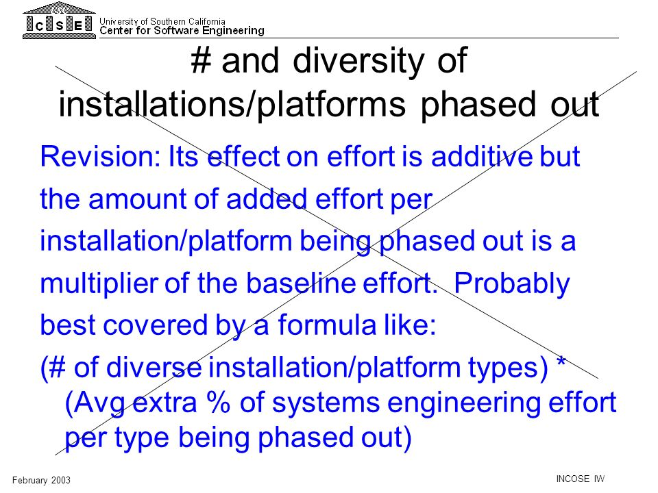 # and diversity of installations/platforms phased out