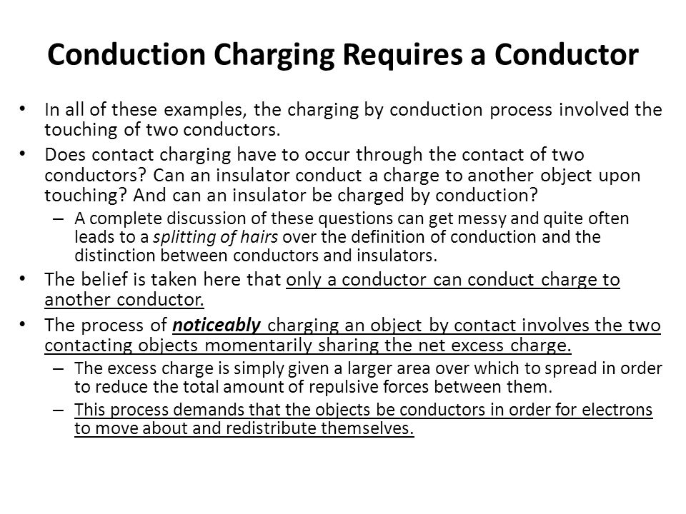 Conduction Charging Requires a Conductor
