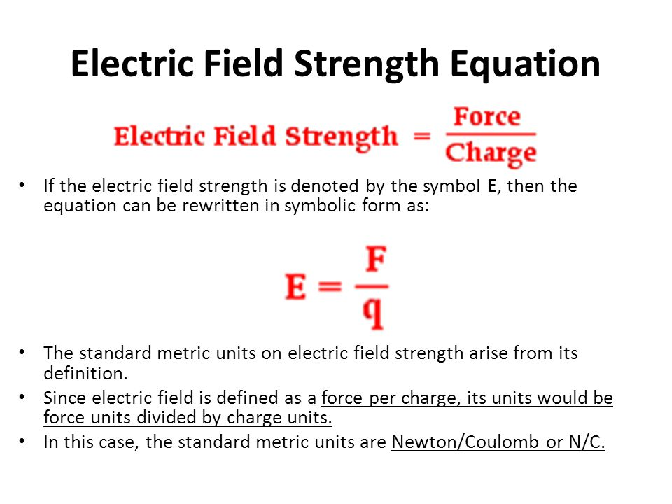Electric Field Strength Equation