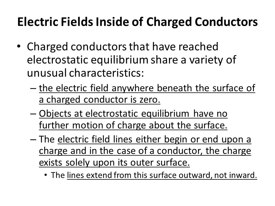 Electric Fields Inside of Charged Conductors