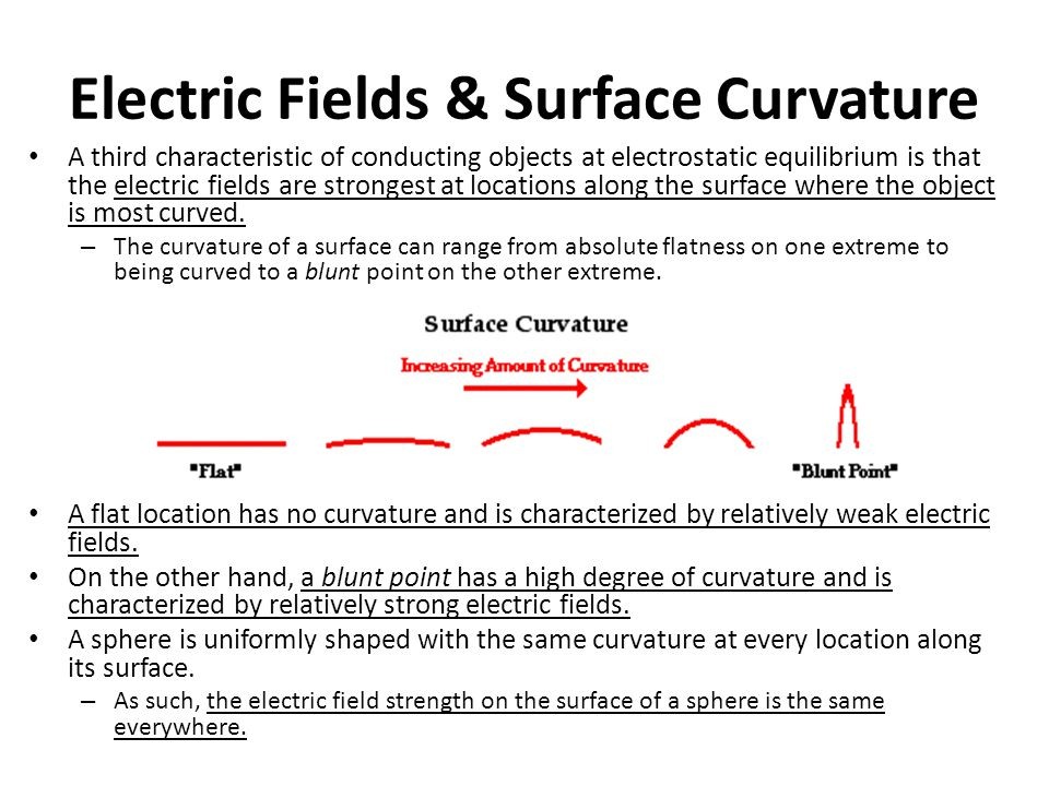 Electric Fields & Surface Curvature