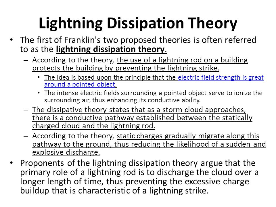 Lightning Dissipation Theory