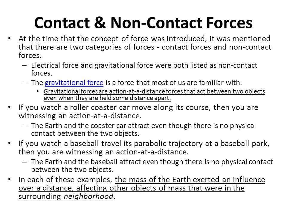 Contact & Non-Contact Forces