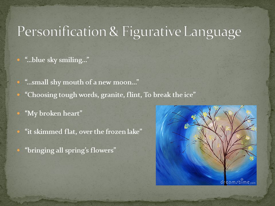 Personification & Figurative Language