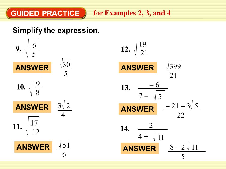 45 Solve Quadratic Equations by Finding Square Roots ppt video – Practice 5-4 Factoring Quadratic Expressions Worksheet Answers