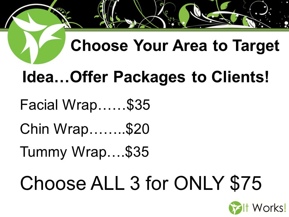 Choose ALL 3 for ONLY $75 Choose Your Area to Target