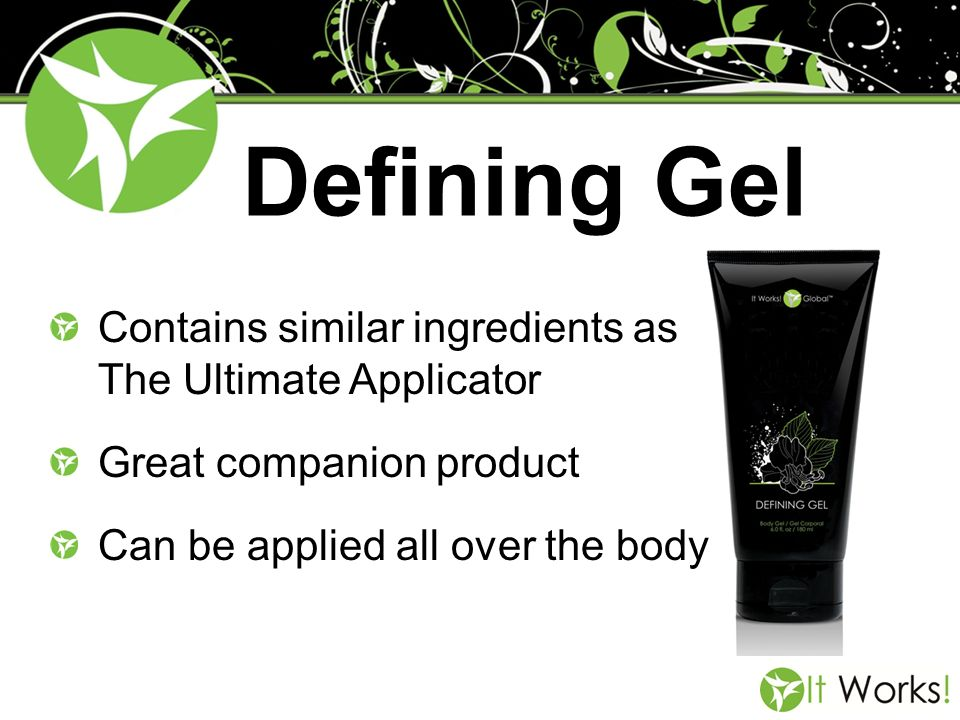 Defining Gel Contains similar ingredients as The Ultimate Applicator