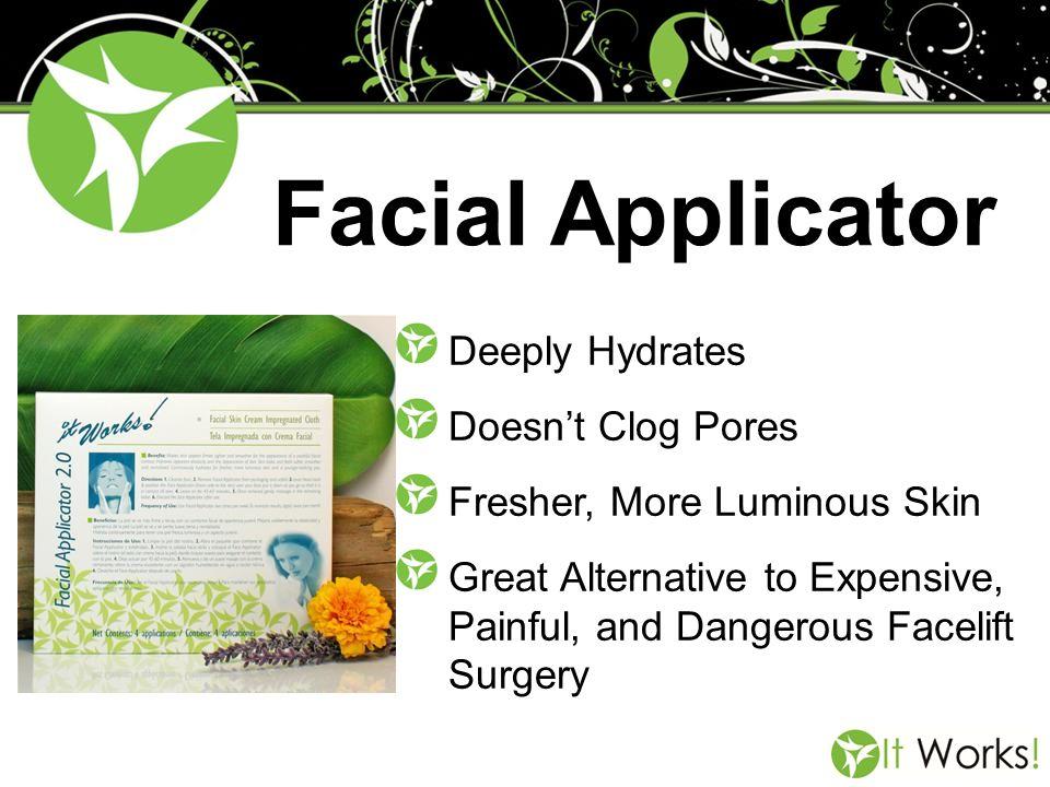 Facial Applicator Deeply Hydrates Doesn't Clog Pores