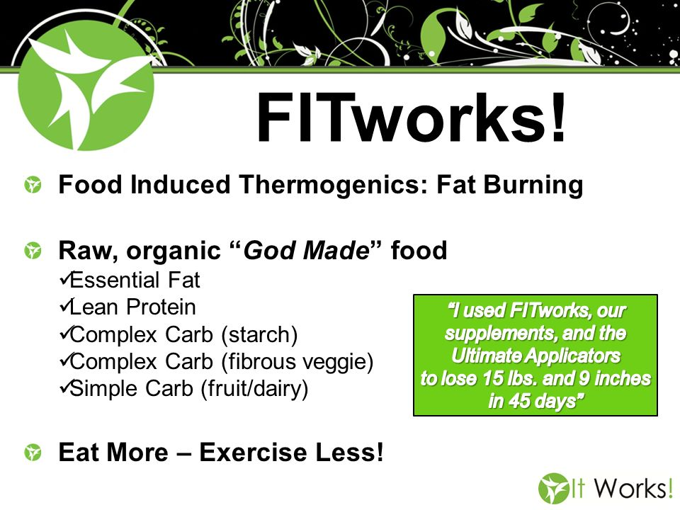 FITworks! Food Induced Thermogenics: Fat Burning