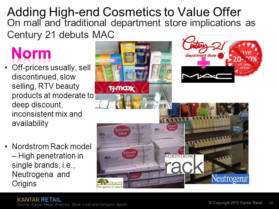 Adding High-end Cosmetics to Value Offer