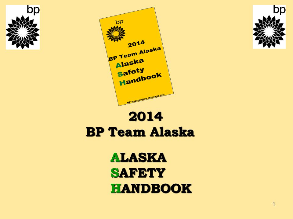 2014 BP Team Alaska ALASKA SAFETY HANDBOOK