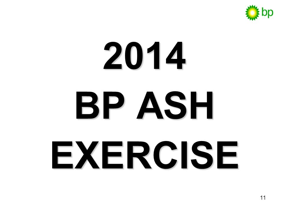 2014 BP ASH EXERCISE ACTIVITY: