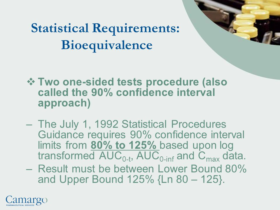 Statistical Requirements: Bioequivalence