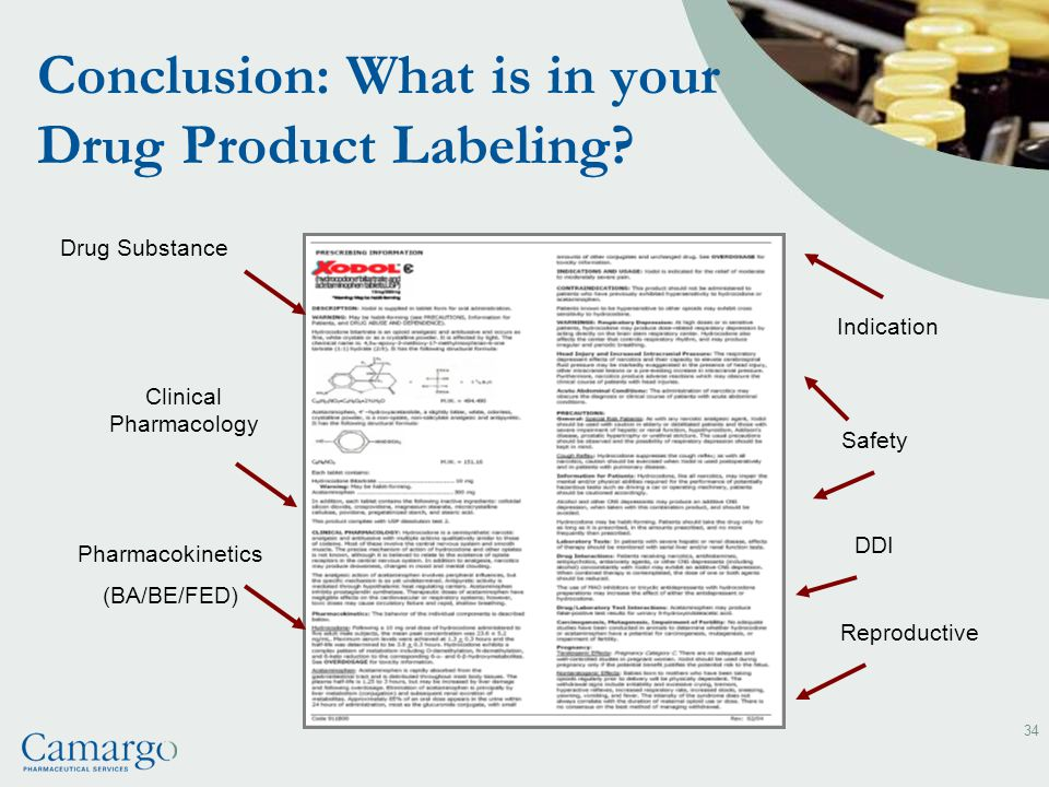 Conclusion: What is in your Drug Product Labeling