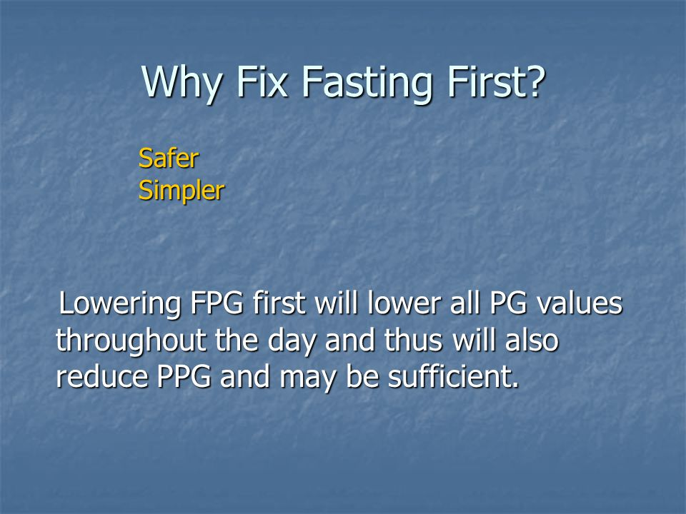 Why Fix Fasting First Safer. Simpler.