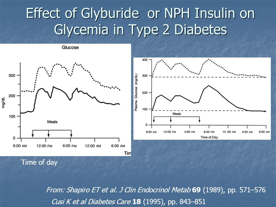 Effect of Glyburide or NPH Insulin on Glycemia in Type 2 Diabetes