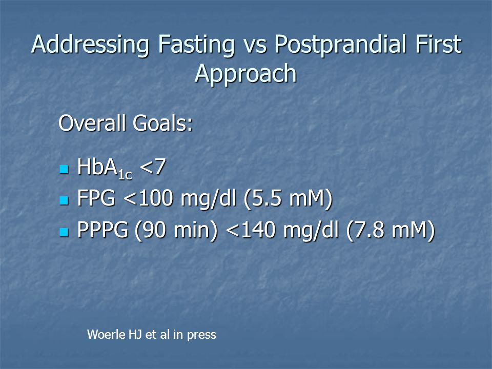 Addressing Fasting vs Postprandial First Approach
