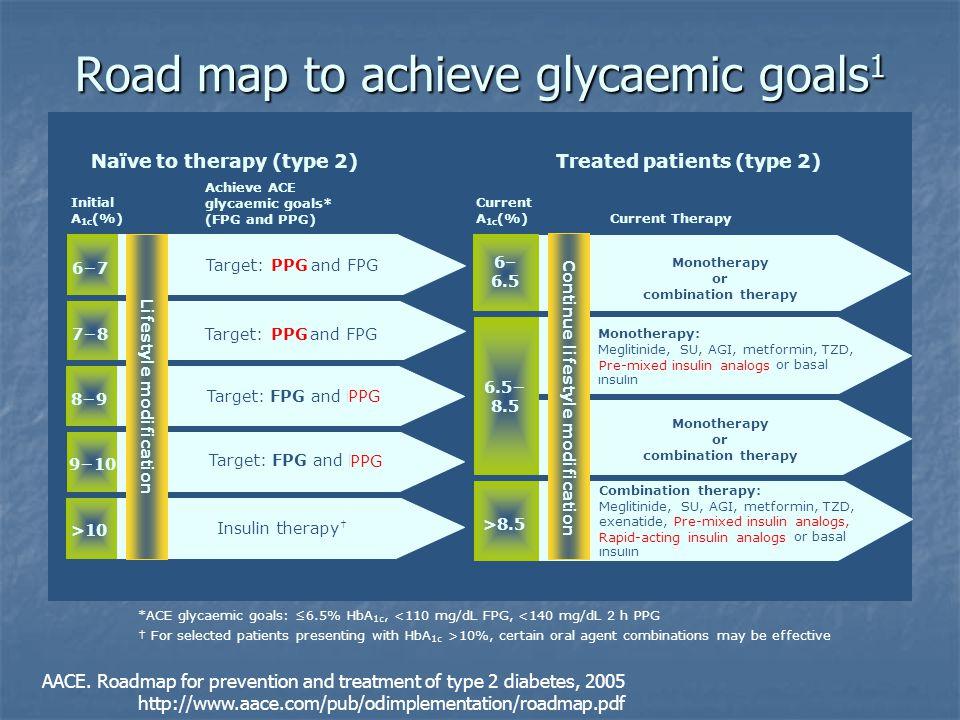 Road map to achieve glycaemic goals1