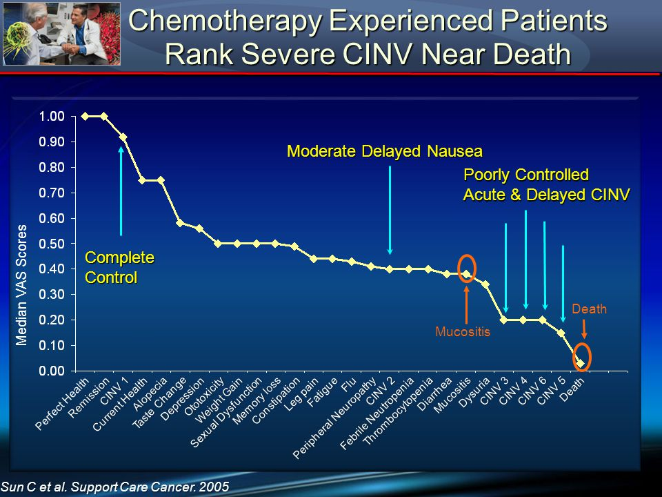 Chemotherapy Experienced Patients Rank Severe CINV Near Death